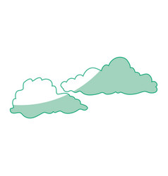 Isolated cute clouds vector
