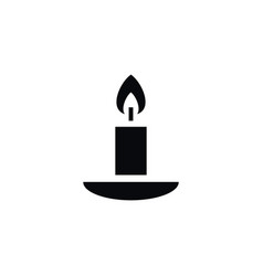 isolated flame icon candlestick element vector image