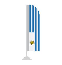 Isolated uruguayan flag vector