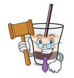 Judge white russian mascot cartoon vector