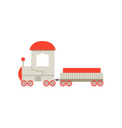 kids cartoon toy cargo train railroad toy with vector image