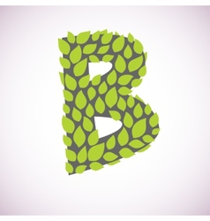 letter like a bush vector image