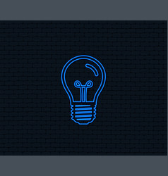 Light bulb icon lamp e27 screw socket symbol vector