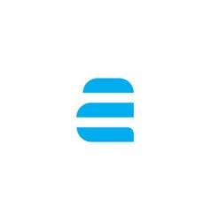 logo letter a blue stripes vector image