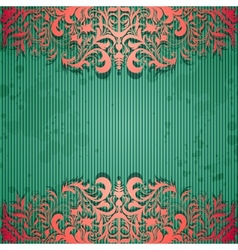 Luxury background with vintage frame and stripe vector image