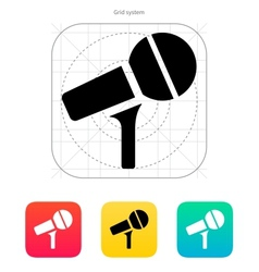 Microphone on stand icon vector image