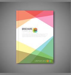 modern abstract brochure design template vector image