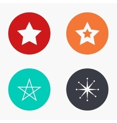 Modern star colorful icons set vector