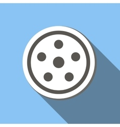 Movie flat icon vector image