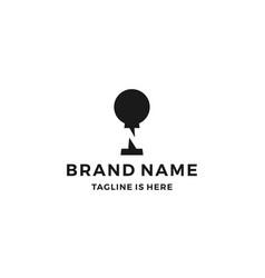 n letter keyhole logo icon vector image