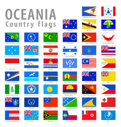 Oceanic national simple flags vector