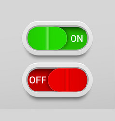 on and off switch buttons template vector image