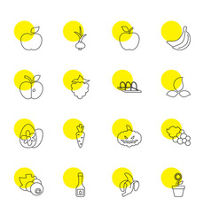 organic icons vector image