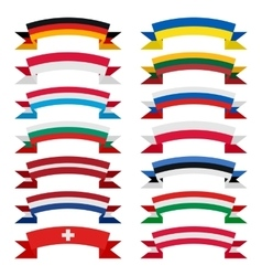 Ribbons countries vector