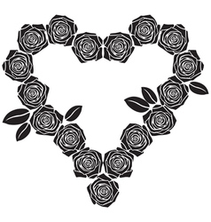 rose heart vector image