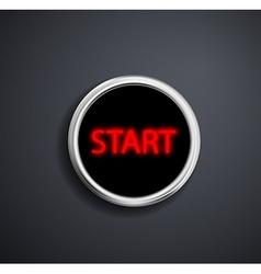 Round button start vector image