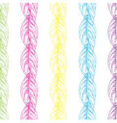 Seamless pattern with multi colored outline vector