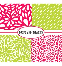 Seamless stylish pattern with raindrops vector