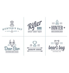 Set of Hunting Camping Sport Elements can be used vector