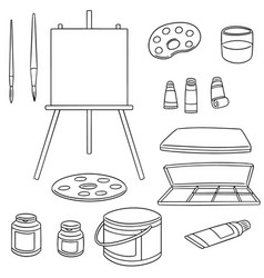 set of painting accessories vector image
