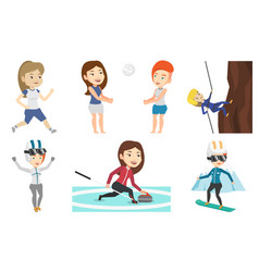 Set of sport characters vector
