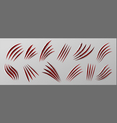 sliced paper realistic hole in paper sheets vector image