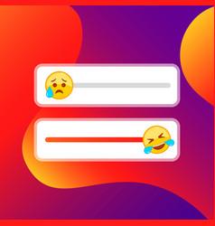 Slider smile for social media icon flat vector