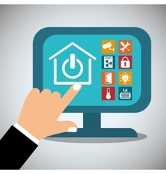Smart home house icon set vector