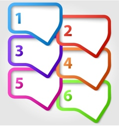 Speech bubbles with numbers vector image