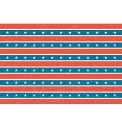 Stripes and stars background USA flag design vector image