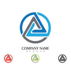 Triangle logo template icon design vector
