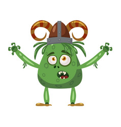 Troll cute funny fairytale character emotions vector