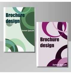Very high high quality original brochure design vector image