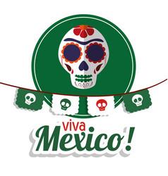 Viva mexico - skull festival poster vector
