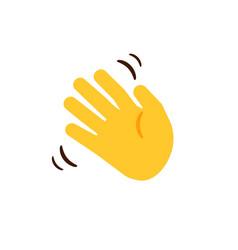 waving hand cartoon moving human hand gesture of vector image