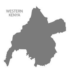 Western kenya map grey vector