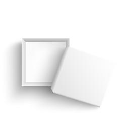 white empty present box open on black vector image
