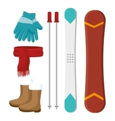 Winter holiday clothes icon vector