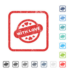 With love stamp seal icon rubber watermark vector