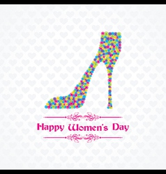 Womens day greeting card design vector image