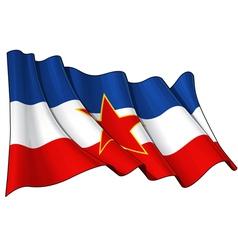 Yugoslavian flag vector