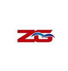 ZG letter logo vector image