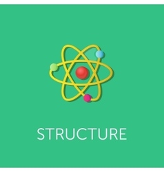 atom structure Flat style vector image