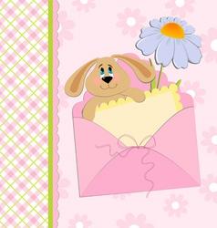 babies greetings card vector image vector image