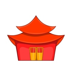 Chinese pagoda icon in cartoon style vector image vector image