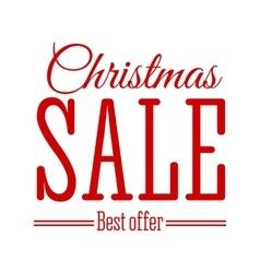 Christmas Sale inscription vector image