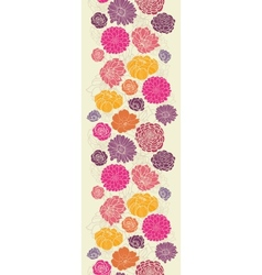 Colorful abstract flowers vertical seamless vector image vector image