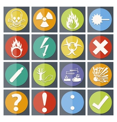 Danger icon color paper fold style vector image vector image