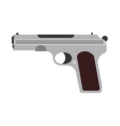 gun firearm rifle weapon pistol icon military vector image vector image