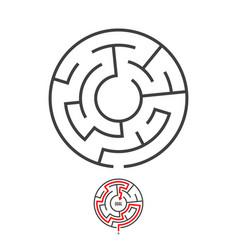 maze logo isolated vector image